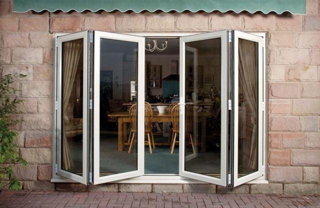 white bi-folding upvc doors