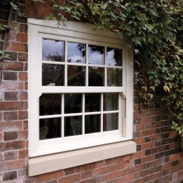 Sliding sash window with Georgian Bars