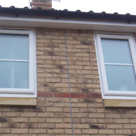 Casement style white windows