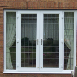 White French Doors with leadwork