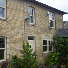 Sliding sash uPVC windows in Cream