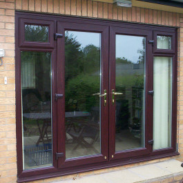 French Doors with woodgrain finish
