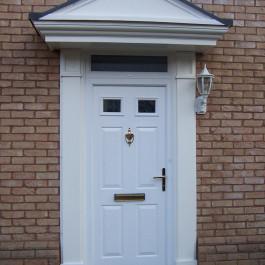 White Composite Door with over door canopy