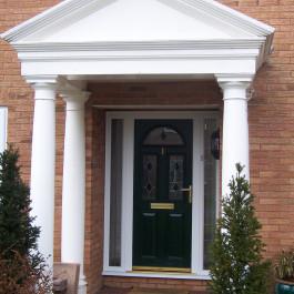 Composite Door with over door canopy