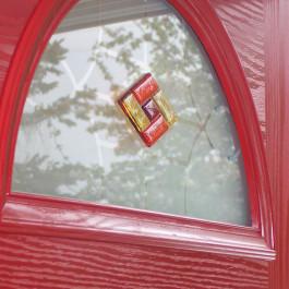 Composite Door glazing close up