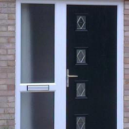 Composite Door with side panel