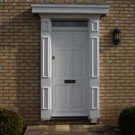 White Composite Door with door surround