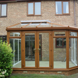 brown conservatories