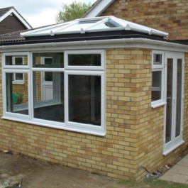 white framed upvc windows