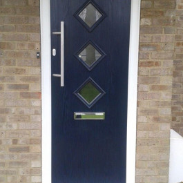 Dark blue Contemporary composite door