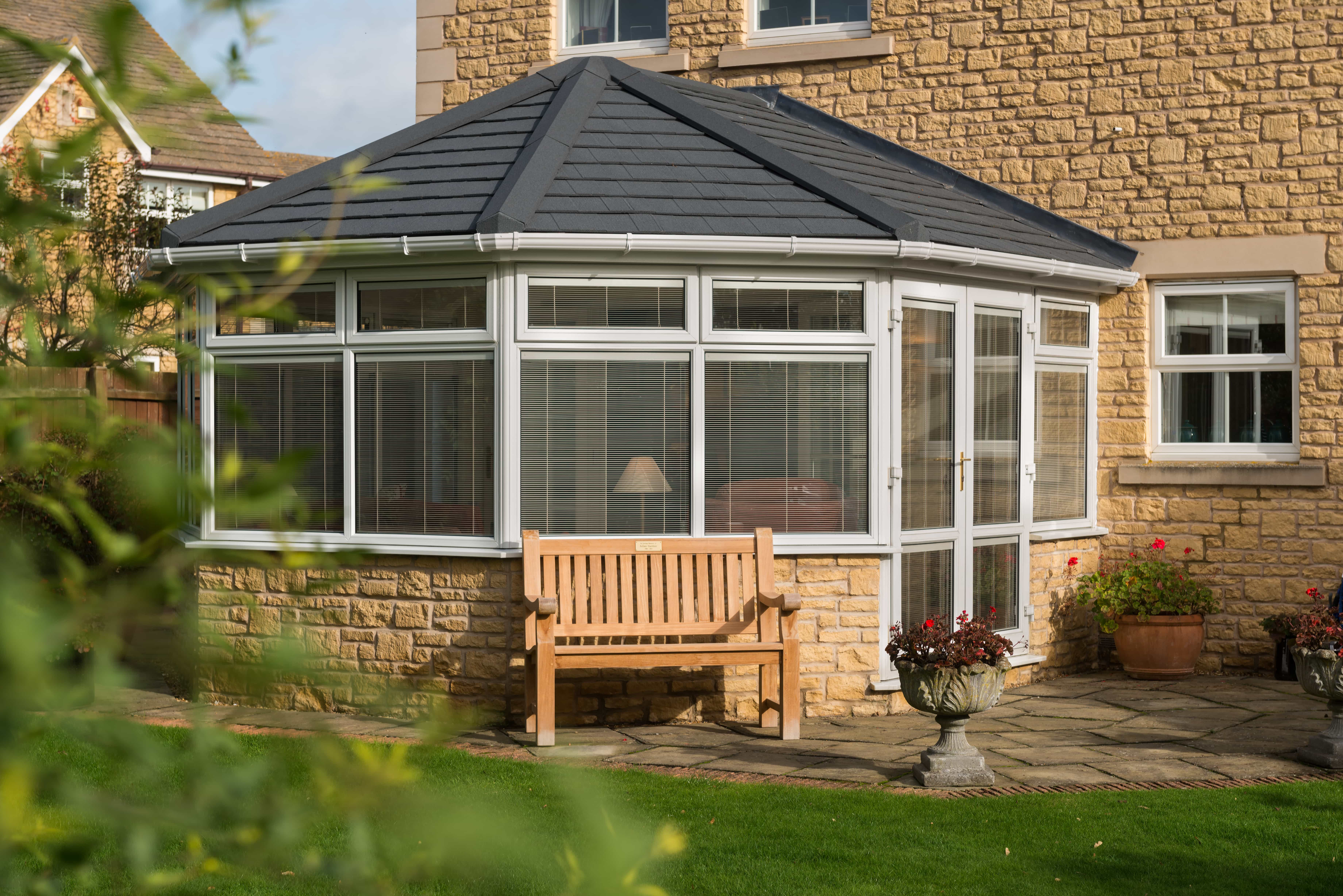 conservatory with equinox roof