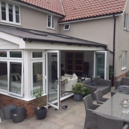 white bordered conservatory
