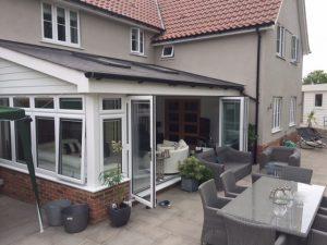 white bordered conservatory