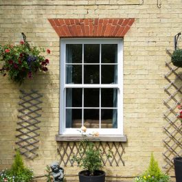 A uPVC sliding sash window installed by Elglaze in Chittering, Cambridgeshire