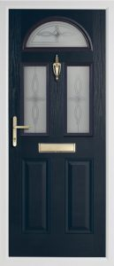Teak Anthracite Grey door