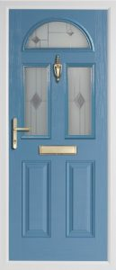 Teak Duck Egg Blue door