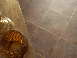 Camaro Flooring With Gold Grouting Effect