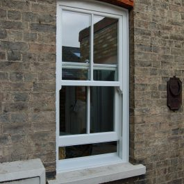 Conservation Area Approved Sliding Sash Window installed in a Victorian property in Cambridge