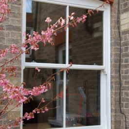 Conservation Area Approved uPVC Sliding Sash Window installed in a Victorian Property in Cambridge