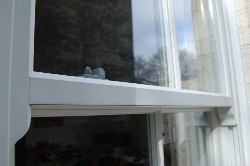 Close-up detail of a Conservation Area Approved Vertical Sash Window
