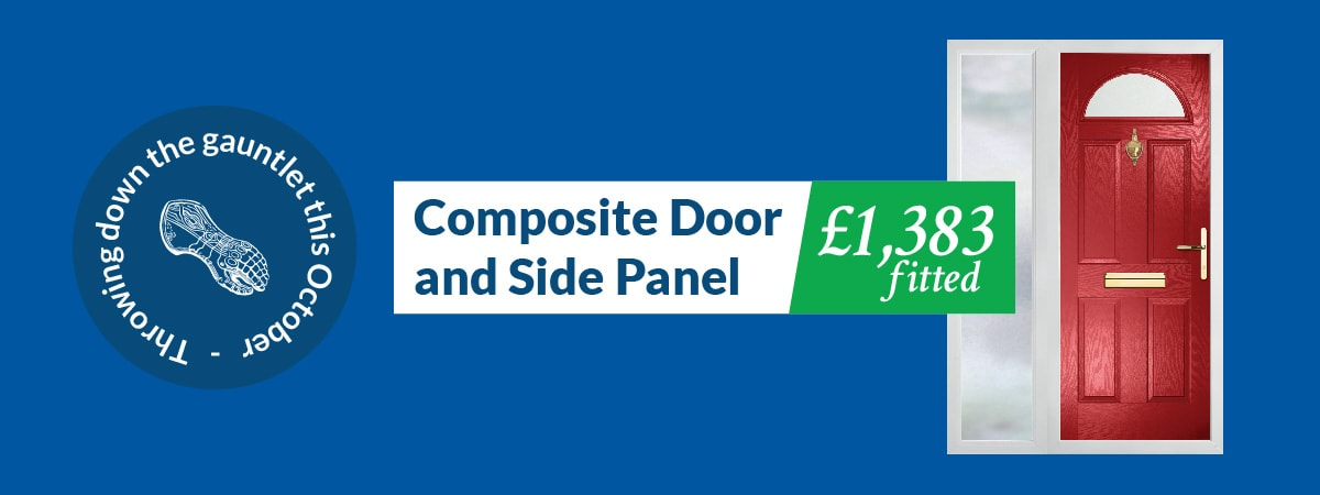composite door and side panel fitted for £1383