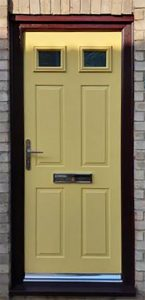 composite door in yellow