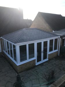 Photo of an Equinox conservatory from above
