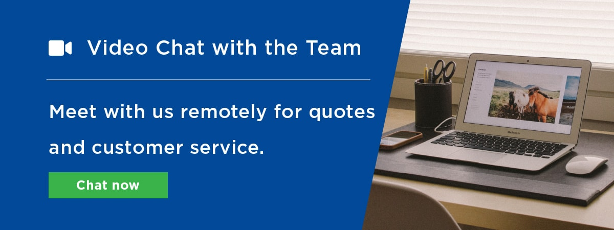 Video chat with the elglaze team for quotes customer service and more
