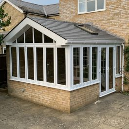 Extended New Year Sale - Equinox roof with a gable end, installed by Elglaze