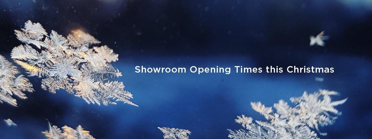 Elglaze Showroom opening times this Christmas