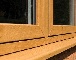 sleek and modern sash window